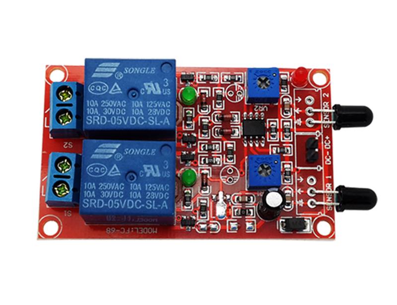 2-Way-12V Flame Sensor Module With Relay Module | OKYSTAR