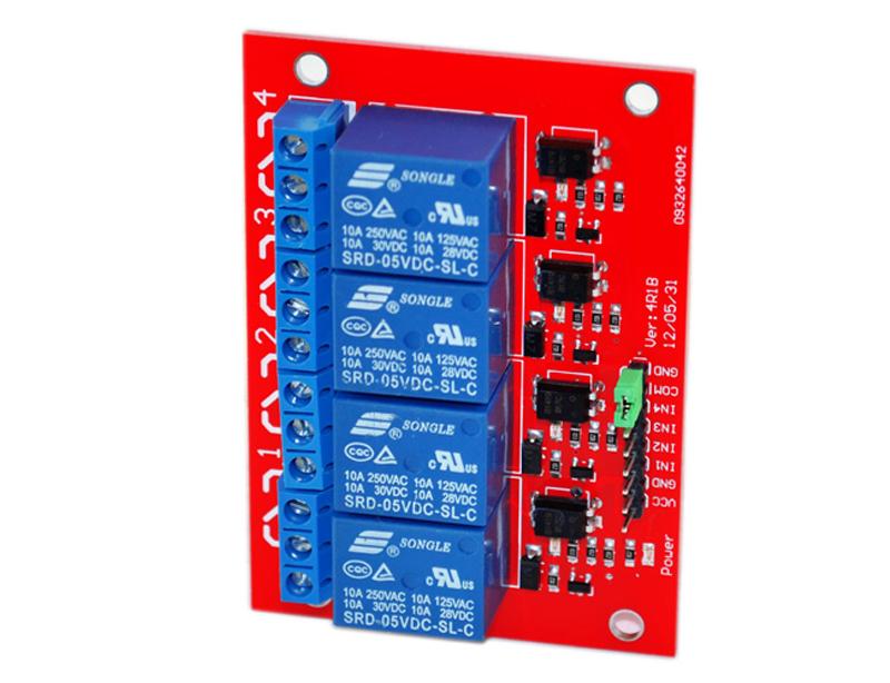 5v 12v 4 Channel Relay Module Red Board Okystar