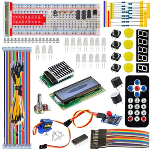 servo lcd breaboard jumper wire starter kit