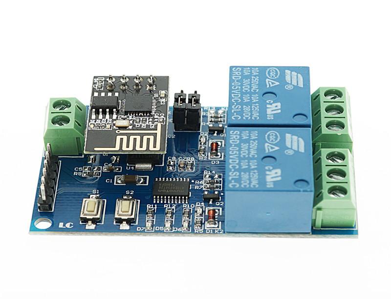12V ESP8266 ESP-01 2 Channel WiFi Relay Module | OKYSTAR