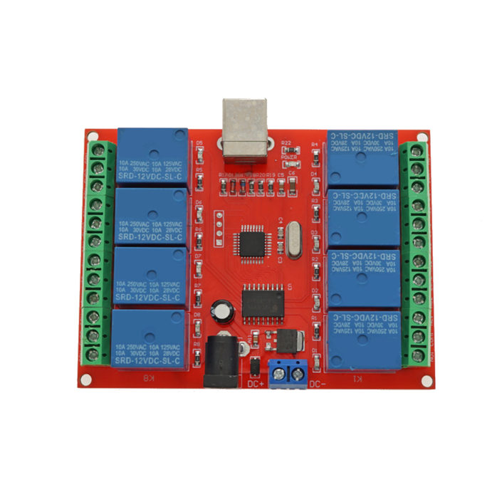 12V 8 Channel USB Relay Module
