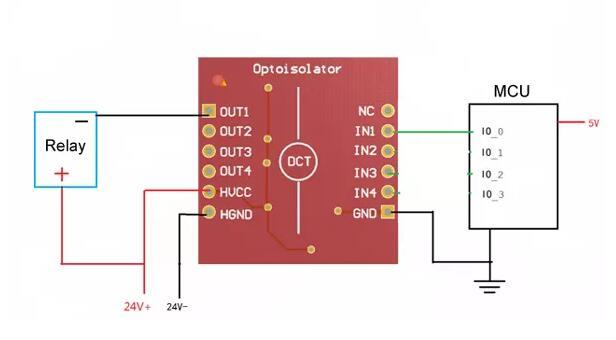 4 Channel Optocoupler Isolator Module Optoisolator Expansion