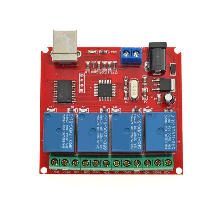 12V 4 Channel USB Relay Module
