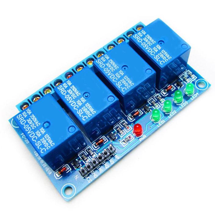 4 Channel Relay Module With Optocoupler Sensor