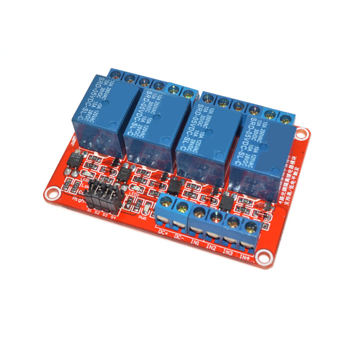 4-Channel Relay Module High Low Level Trigger Optocoupler Sensor