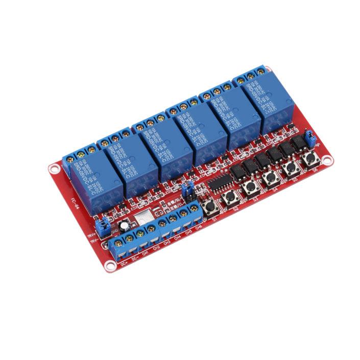 6 way Self-Lock Interlock relay 6-channel relay module