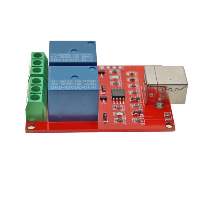 DC 5V 2 Channel USB Relay Module